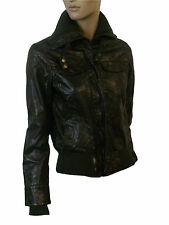 LADIES FAUX LEATHER JACKET in BLACK COLOR SIZE 10 from NEW LOOK (D-12)
