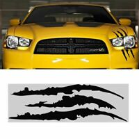 Car Headlight Scratch Stripe Decal Sticker Claw Stripe Slash Truck BLACK. V J6G5