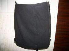 Mini jupe droite courte laine noir SARAH PACINI size 0 36/38 Bas à passants
