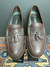 Men's H.S Trask Classic Bison Leather Moc Sewn Tassel Loafer Sz. 9M MINTY!