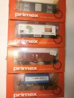 Konvolut 4 Primex Eisenbahn Güterwagen 4547 4591 4592 4593 Spur H0 OVP