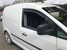 Wind & Rain Deflectors Smoked VW Volkswagen Caddy Van 2K 2004> Front Pair New