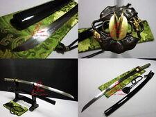Clay tempered choji hamon jp katana sword OX tsuba shobu zukuri kissaki sharp