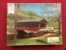 Milton Bradley York Vintage 1500 Series Jigsaw Puzzle 12 Old Covered Bridge