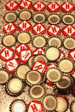 100 Harpoon Brewery H Beer Bottle Caps Red White Uncrimped Free Fast Shipping!