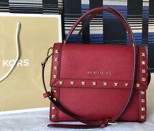 $268 Michael Kors DILLON MD TH MESSENGER Purse Vegan Leather Handbag Bag