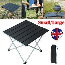 Folding Camping Table Lightweight Portable Outdoor Picnic Aluminium Frame W/Bag