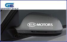 1 Set ( 4 Stück ) KIA MOTORS Spiegel Aufkleber - Sticker - Decal !