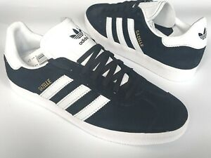 Adidas Gazelle Mens Shoes Trainers Uk Size 8 - 10   BB5476   Black white gold