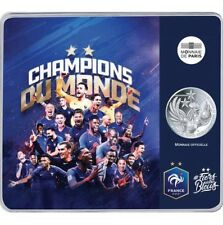 """Pièce de 10 euros """"Coupe du Monde 2018 """"La France double Champion du monde"""""""