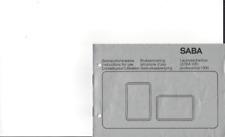 Saba Original Bedienungsanleitung für ULTRA HiFi professional 1300