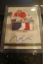 17-18 Premier Victor Mete Rookie Patch Auto /249 Montreal Canadiens WOW