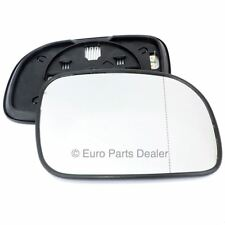 Right side mirror glass with clip for Chrysler Voyager 96-07 Heated Aspherical