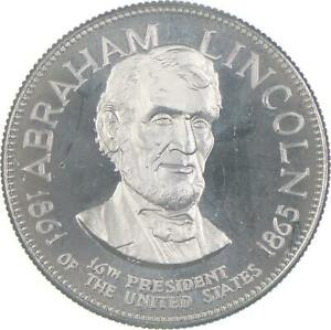 Sterling Silver - Abraham Lincoln - 925 - 32.7 Grams Round/Art Bar *146