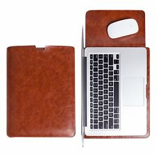 Apple MacBook Air 13 Case Leather Soft Sleeve Bag Mouse pad Lightweight Coffe