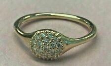 PANDORA   18k Gold Lovepods Diamond Ring 970106D 7 RARE Retired 750 Ale US