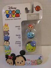 Disney Tsum Tsum Series 3 Jiminy Cricket Pichnochio Genie Jessie 3 Pack New