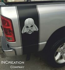 2 Truck vinyl decals Star Wars Darth Vader Racing Stripes side graphics rear bed