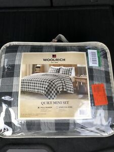 Woolrich 100% Cotton Quilt Reversible Plaid Cabin Lifestyle Design - All Seas...