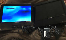 "Philips PD9012/17 Portable Dual Screen 9"" DVD Player W/AC Cords car power cord"