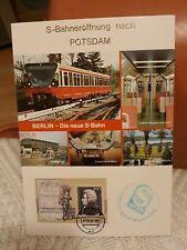 S-Bahneröffnung nach Potsdam 1.4.1992 Fotos Marke mit Stempel und S-Bahnstempel