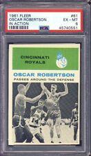 1961 Fleer Basketball #61 Oscar Robertson In Action PSA 6