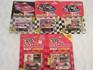 Lot of 5 Ricky Rudd #5 and #10 Tide 1/64 Racing Champions NASCAR