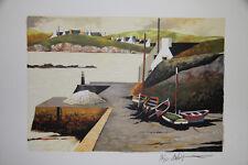 DUBIGEON Loic- Lithographie originale signée- Port Breton