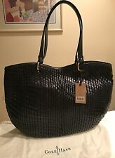 Cole Haan Genevieve NWT Woven Leather Eve II Open Weave Tote Hobo Hand Bag Purse
