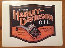 Tin Sign Vintage Genuine Harley-Davidson Oil