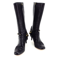 Gucci boots Black Gold Woman Authentic Used T3337