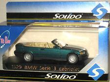 Solido 1990-1998 BMW 323i Coupe Cabrio E36 2-door 1/43 Made in France Rare