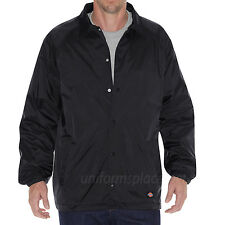 DICKIES Jacket Mens Snap Front Nylon Jackets Water Resistant Lined 76242 Colors