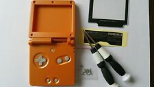 CARCASA COMPLETA+PANTALLA COMPATIBLE GAME BOY ADVANCE SP ORANGE NEW/NUEVO
