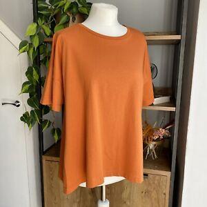 Kin by John Lewis Size M UK 12 - 14 Burnt Orange Fluted Back T-Shirt Worn Once!