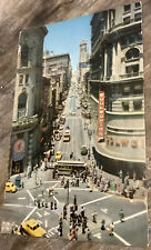 1964 Powell And Market St., San Francisco, Ca Woolworths Postcard