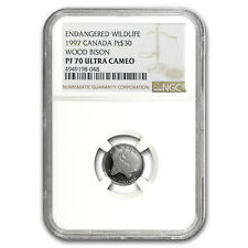 1997 Canada 1/10 oz Proof Platinum $30 Wood Bison PF-70 NGC