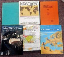 Historical Atlas Story of Maps Cartography World Revolutions 6 books Illustrated