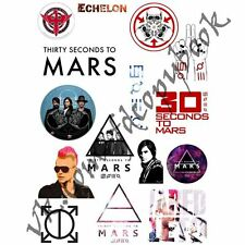 30 seconds to mars 30STM Jared Leto echelon A4 stickers set decals