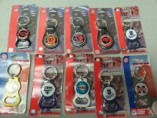 LOT SET OF FOB SPORT KEY RINGS CHAINS TAMPA BAY BENGALS ROYALS CARDINALS MISSISS