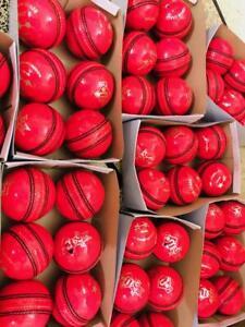 Premium Quality Supreme Test 5 1/2 Oz Cricket Balls Pink Cricket Balls