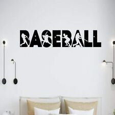 Baseball Softball Player Hydro Flask Sport Name Number Stickers for Boys Room