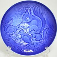 """Bing & Grondahl Mors Dag Mothers Day 1977 Plate 6"""" Mother Squirrel Baby Denmark"""