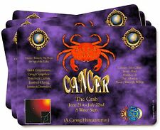Cancer Star Sign Birthday Gift Picture Placemats in Gift Box, ZOD-4P