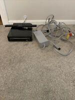 Nintendo Wii Console + Sensor Bar & Cords BLACK RVL-101(USA) TESTED! SHIPS FAST!