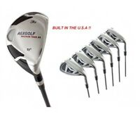 MEN'S RIGHT HAND AGXGOLF MAGNUM IRONS SET w #3 HYBRID IRON +5-PW IRONS & FREE SW