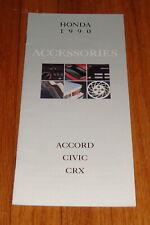 Original 1990 Honda Accessories Sales Brochure Accord Civic CRX