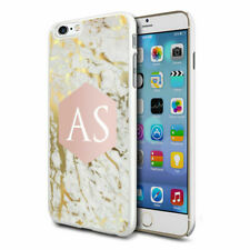 Personalised Marble Phone Case Cover for Apple Samsung Initial Text Name - 63