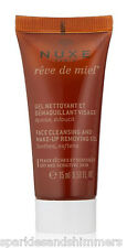 Nuxe Reve De Miel Face Cleansing & Make Up Removing Gel Wash 15ml TRAVEL SIZE