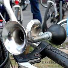 BICYCLE BIKE HANDLEBAR BAR CHROME RETRO BUGLE SNAIL HOOTER HORN - SQUEEZE BULB